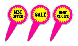 Best offer, choice and sale label Royalty Free Stock Photo