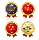 Best Offer or Choice Sale Label Medal Set. Vector Royalty Free Stock Photos