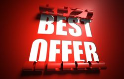 Best offer concept, cut out in background Royalty Free Stock Photography