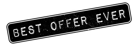 Best Offer Ever rubber stamp. Grunge design with dust scratches. Effects can be easily removed for a clean, crisp look. Color is easily changed Royalty Free Stock Photo