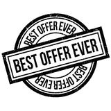 Best Offer Ever rubber stamp. Grunge design with dust scratches. Effects can be easily removed for a clean, crisp look. Color is easily changed Stock Image