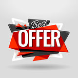 Best Offer Geometric Banner Royalty Free Stock Image