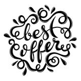 Best offer hand drawn lettering Stock Image