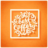 Best offer hand drawn lettering Royalty Free Stock Image