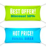 Best Offer and Hot Price vector banners Royalty Free Stock Images