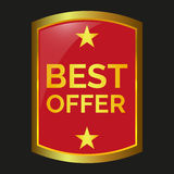 Best offer label Royalty Free Stock Images