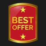 Best offer label. On black background, vector illustration royalty free illustration