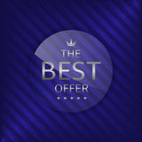Best offer label Stock Photo