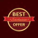 Best offer label Stock Images