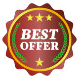 Best offer label. On white background, vector illustration Royalty Free Stock Images