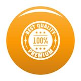 Best offer logo icon vector orange. Best offer logo. Simple illustration of best offer vector logo for any design orange royalty free illustration
