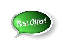 Best offer message bubble illustration Royalty Free Stock Image