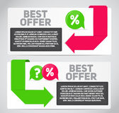Best Offer Sale Banner with Place for Your Text. Vector Illustra Royalty Free Stock Photography
