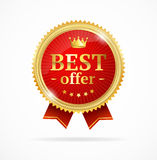 Best Offer Sale Label Medal. Vector Royalty Free Stock Photo