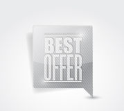 Best offer sale sign illustration Stock Photo