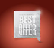 Best offer sale sign illustration Stock Photography