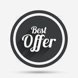 Best offer sign icon. Sale symbol. Royalty Free Stock Images