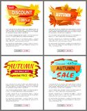 Best Offer Special Discounts Autumn Big Sale 2017. Best offer special price discounts autumn big sale 2017 fall collection web banners with buttons read more and Royalty Free Stock Images