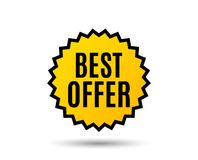 Best offer. Special price sale sign. Royalty Free Stock Images