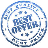 Best offer stamp Royalty Free Stock Images
