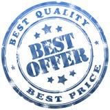 Best offer stamp. Best offer blue ink stamp Royalty Free Stock Images