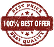 Best offer stamp Stock Photography
