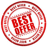 Best offer stamp Royalty Free Stock Photography