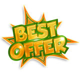 Best offer sticker Royalty Free Stock Image