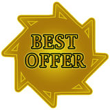 Best offer tag Stock Photography