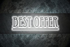 Best offer text on background Royalty Free Stock Photo
