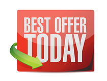 Best offer today sticker illustration design Stock Image