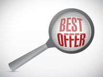 Best offer under magnify search investigation Stock Image