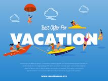 Best offer for vacation banner Royalty Free Stock Photography