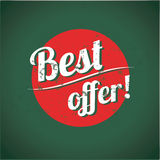 Best offer vintage poster Royalty Free Stock Photos
