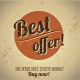 Best offer vintage poster stock illustration