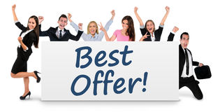 Best offer word on banner Royalty Free Stock Image