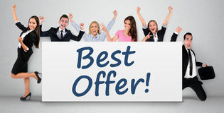 Best offer word on banner. Best offer word writing on banner Stock Images