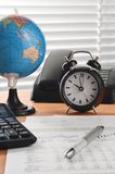 Best Office Stiil Life 02. Office desk arrangement shot as still life business concept royalty free stock images