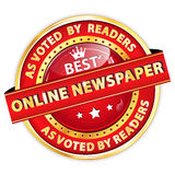 Best Online Newspaper. As Voted by Readers Royalty Free Stock Image
