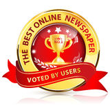 Best Online Newspaper, Voted by users Royalty Free Stock Image