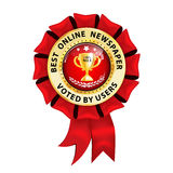 Best Online Newspaper. Voted by Users. Royalty Free Stock Photos