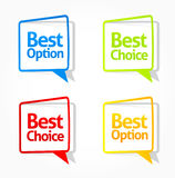 Best option and choice sticker collection 2 royalty free illustration