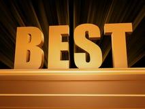 Best over golden pedestal Stock Images
