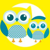 Best owl. A fun little owl illustration Royalty Free Stock Images