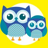 Best owl. A fun little owl illustration Royalty Free Stock Photography
