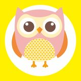Best owl. A fun little owl illustration Stock Photo