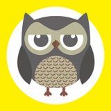 Best owl. A fun little owl illustration Stock Photography