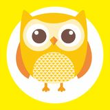 Best owl. A fun little owl illustration Royalty Free Stock Image