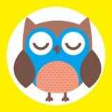 Best owl. A fun little owl illustration Stock Photos