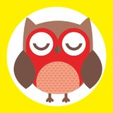 Best owl. A fun little owl illustration Stock Images